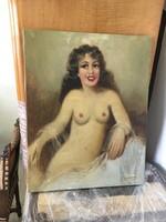 Szánthó szignós akt festmény a múltból