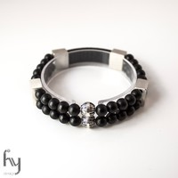 Frosted Onyx Bracelet Duo 1