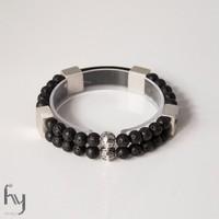 Lava Gemstone Bracelet Duo 1