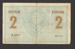 """2 korona 1914.  """"A"""" !!  NAGYON RITKA!!"""