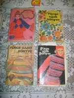 Fürge ujjak - 1973/76/77/79 - négy darab kézimunka könyv