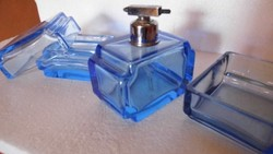 Régi parfümös üveg szett