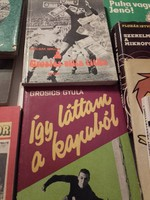 10 db Labdarúgással foglalkozó antikvár sport könyv (Grosics,Czibor, Albert, Puskás, Kocsis, stb...)