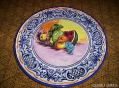 Majolika falitál, PLATART.S.L Olasz  31 cm
