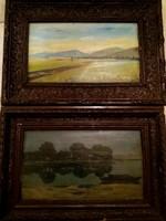 Kettő Baky Albert festményt kínálok megvételre