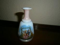 Antik kézműves  üveg-  illatszeres üveg