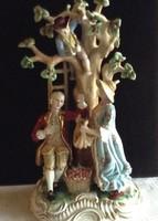 Meseszép meisseni nagyméretű porcelán szobor