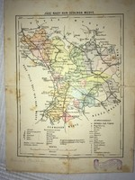 Térkép/ Jász-Nagy-Kun-Szolnok Megye. Budapest; Franklin- Társulat