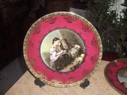 ALTWIEN Porcelán falitányér