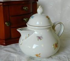 Gyönyörű virágos teás, kávés kanna, kiöntő