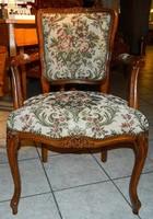 Barokk rokoko  stilusú  2 darab  goblein mintás karfás fotel