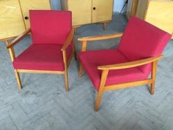 Retro régi fakarfás karfás fotel szék