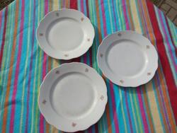 Antik Zsolnay porcelán lapos tányér 3db