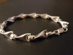 Uniszex ezüst karkötő