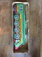 Lemez vonat retro játék dobozban