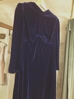 Királykék selyembársony ruha a 60-as évekből 38-40-es méret