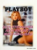 2001 április -  /  PLAYBOY  /  SZÜLETÉSNAPRA RÉGI EREDETI MAGYAR ÚJSÁG Szs.:  4388