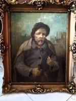 Kalapos férfi portré kép