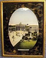 Brandenburgi kapu, üveg festmény az 1900-as évek elejéről