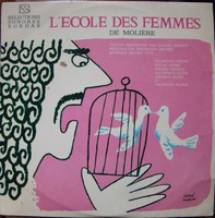 L'ECOLE DES FEMMES DE MOLIÉRE francia bakelit lemez
