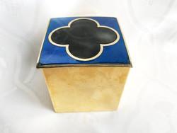 Vintage jelzett De Passilé Sylvestre zománcozott  doboz