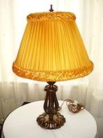 Hatalmas, barokk stílusú, bronz asztali, hangulatlámpa
