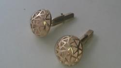 Aranyozott ezüst mandzsettagomb. Svájci (Zürich) 925