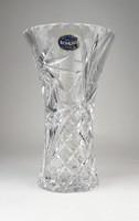 0Q041 Hibátlan Bohemia kristály váza 20 cm