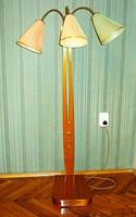 Retro fa háromkaros állólámpa (50-es évek)