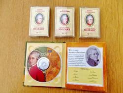 Mozart: Mesterdarabok CD + Kedvenc klasszikusaink 3 db. kazetta