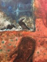 Bakányi Gyula 24,5 cm X 33,5 cm gouache, papír kerettel