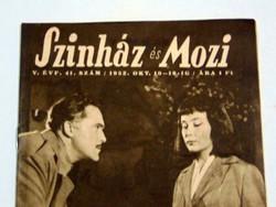 1952 október 10 16  /  SZINHÁZ ÉS MOZI  /  RÉGI EREDETI ÚJSÁG Ssz.: 1345