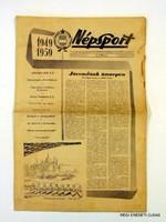 1959 augusztus 20  /  NÉPSPORT  /  SZÜLETÉSNAPRA RÉGI EREDETI MAGYAR ÚJSÁG Szs.:  4721