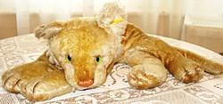 Antik Steiff, üvegszemű,nyirt moher oroszlánkölyök /1930/