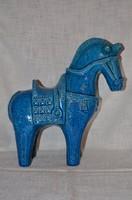 Bitossi kerámia kék ló  ( DBZ 0097 )