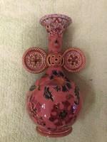 Zsolnay rózsaszín váza.1880.