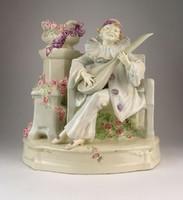 0P000 Hatalmas Johann Maresch majolika szobor