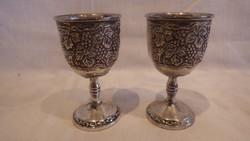 Elegance silver plate ezüstözött poharak 2 db