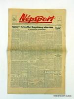 1959 november 7  /  NÉPSPORT  /  SZÜLETÉSNAPRA RÉGI EREDETI MAGYAR ÚJSÁG Szs.:  4722