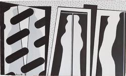 Deim Pál - Laterna magica 30 x 50 cm akril, vásznazott lemez