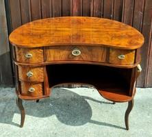 Neobarokk női íróasztalka, restaurált