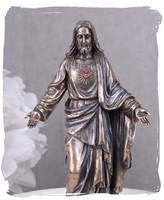JÉZUS, a NÁZÁRETI PORCELÁN BRONZ SZOBOR, GYÖNYÖRŰ ASZTAL VITRIN DÍSZ, LUXUS AJÁNDÉK