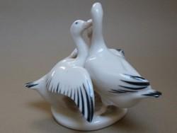 Három lúd porcelán figura Royal Dux