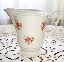 Zsolnay, manófüles, rózsás porcelán tejszínes kanna