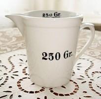 Zsolnay patikai mérőedény 250 gr /  2,5 dl -es