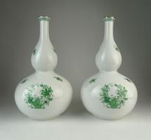0Q393 Indiai kosaras Herendi váza pár 21 cm
