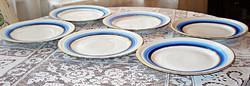 Art deco, meisseni porcelán süteményes tányérok