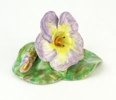 0Q494 Régi kerámia virág