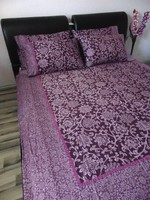 5 db-os szép ágynemű lila és ciklámen virágmintával