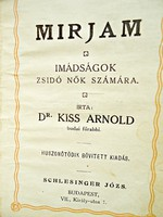 Mirjam imádságok zsidó nők számára 1909
